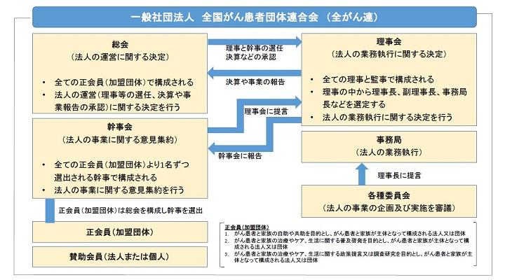 一般社団法人全国がん患者団体連合会組織図